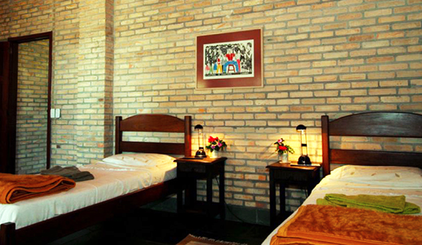 Fazenda Barranco Alto: Twin Bed Room
