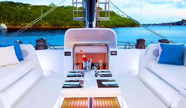 Necker Belle: Upper Deck Dining