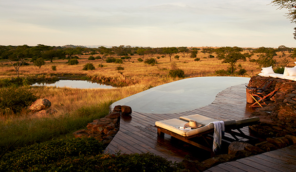 Singita Faru Faru Lodge: Watering Hole View