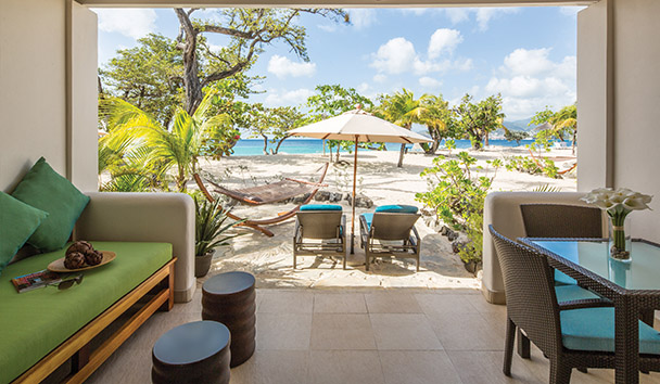 Spice Island Beach Resort: Seagrape Beach Suite Patio