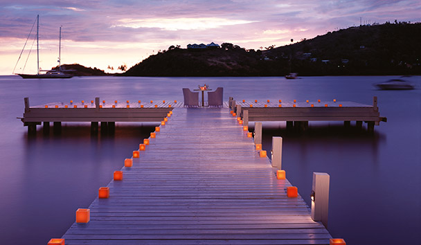 Carlisle Bay, Antigua: Private Dining on The Jetty