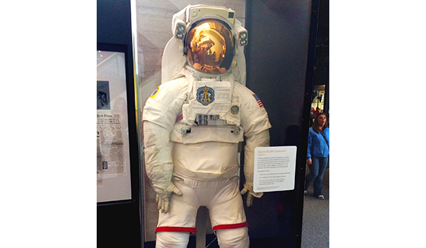 Caroline's image of a space suit at the Air & Space Museum