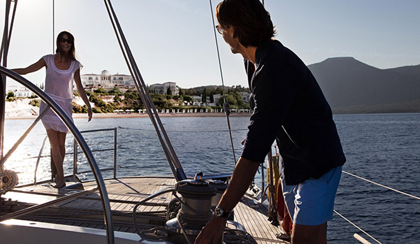Sailing at Anassa