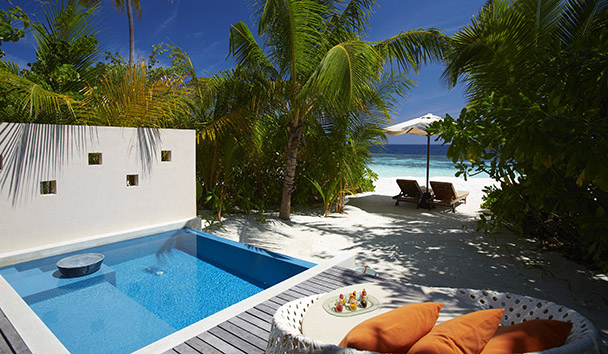 PER AQUUM Huvafen Fushi: Deluxe Beach Bungalow with Pool