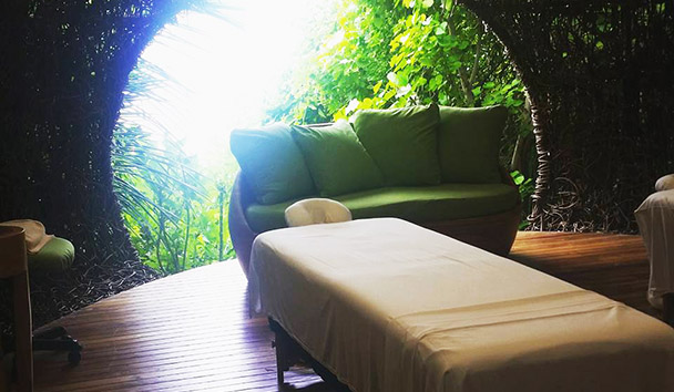 Jess' picture of the spa treatment nest at Six Senses Laamu