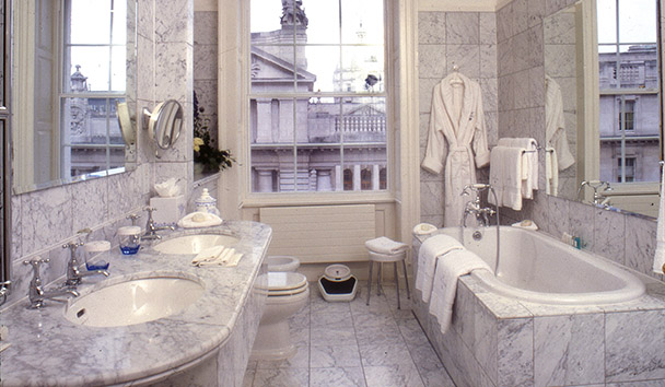 The Merrion: Carrara Marble Guest Bathroom