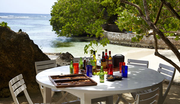 The Fleming Villa: Private Beach Dining