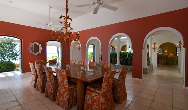 Kairos Villa at Jumby Bay Island: Dining Area