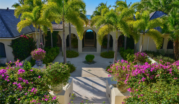 Kairos Villa at Jumby Bay Island: Courtyard