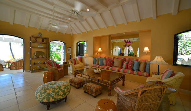 Kairos Villa at Jumby Bay Island: Living Area