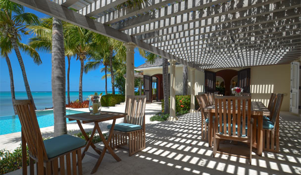 Kairos Villa at Jumby Bay Island: Outside Dining Area