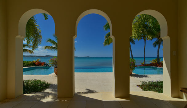 Kairos Villa at Jumby Bay Island: Pool Archway