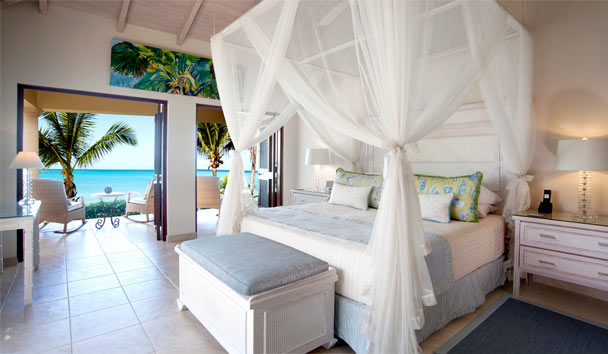 L'Acqua Villa at Jumby Bay, A Rosewood Resort: Bedroom
