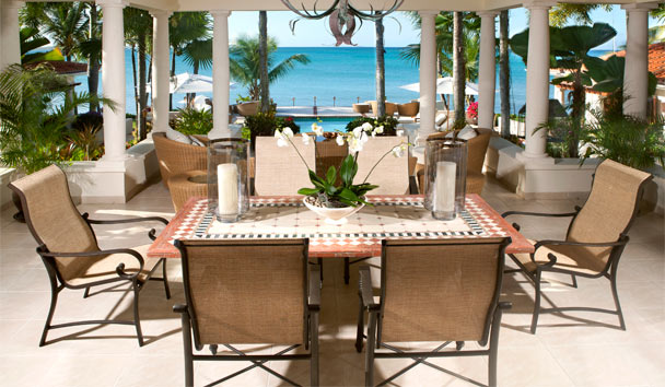 L'Acqua Villa at Jumby Bay, A Rosewood Resort: Outside Dining Area