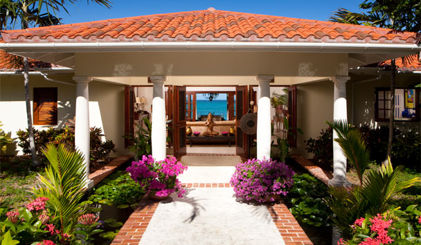 L'Acqua Villa at Jumby Bay, A Rosewood Resort: Garden Entrance