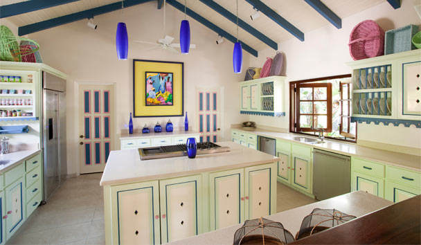 L'Acqua Villa at Jumby Bay, A Rosewood Resort: Kitchen