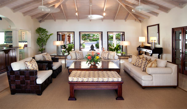 L'Acqua Villa at Jumby Bay, A Rosewood Resort: Living Area