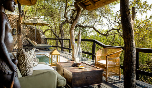 Singita Ebony Lodge: Outside Seating Area