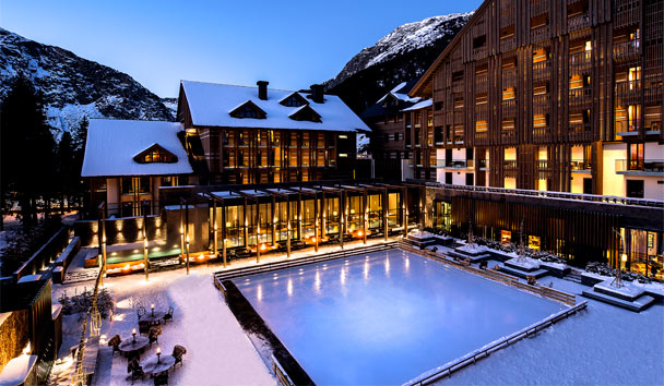Chedi Andermatt: Exterior and Ice Rink