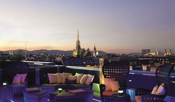 The Ritz-Carlton, Vienna: Atmosphere Roof Top Bar & Lounge