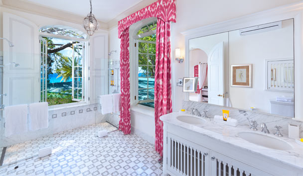 Crystal Springs: Pool House Master Bathroom