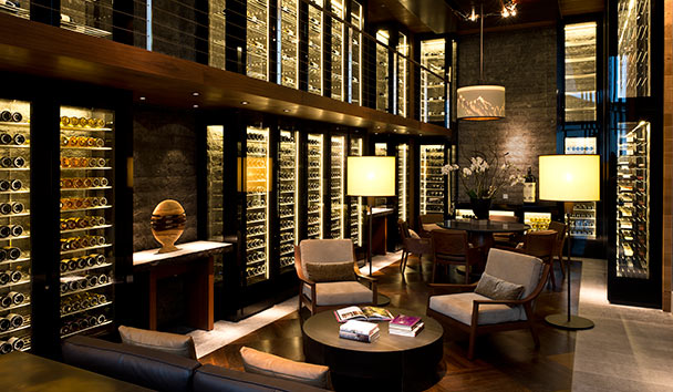 The Chedi Andermatt: The Wine & Cigar Library