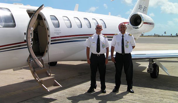 Pink Sands Club, Canouan: Private Jet