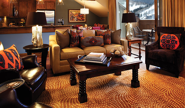 The Sebastian Vail: Residential Suite Living Area