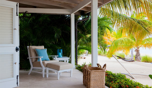 Sandpiper Beach House, at Jumby Bay Island: Relax in Hammock