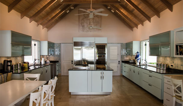 Sandpiper Beach House, at Jumby Bay Island: Kitchen