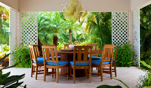 Sandpiper Beach House, at Jumby Bay Island: Dining Area