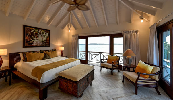 Blue Pelican at Jumby Bay Island: Bedroom Sea View