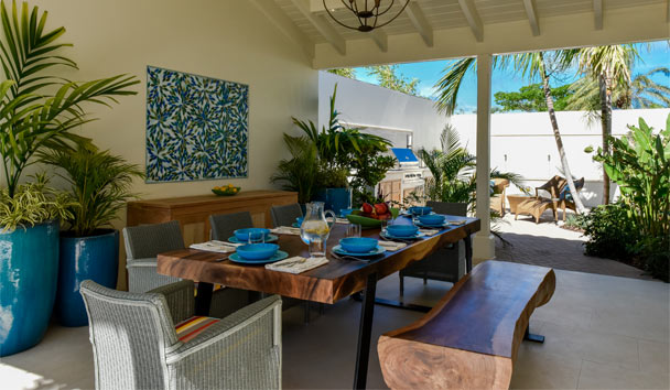 Evangeline at Jumby Bay, A Rosewood Resort: Dining Area