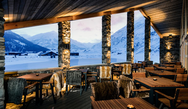 The Chedi Andermatt: Club House Terrace