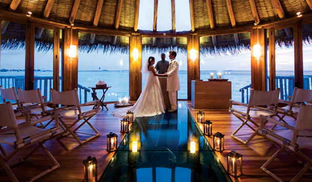 The dreamy overwater chapel at Gili Lankanfushi