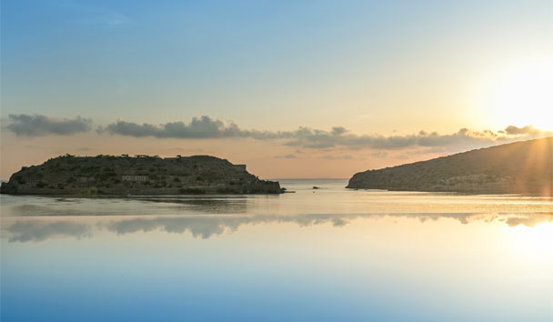 Blue Palace, A Luxury Collection Resort & Spa: Private Infinity Pool With View To Spinalonga Island