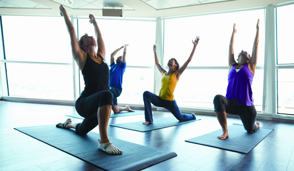 Celebrity Cruises: Yoga session