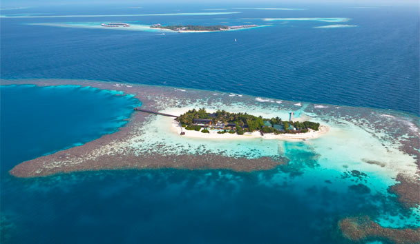 Coco Privé Kuda Hithi Island: Aerial View of Island