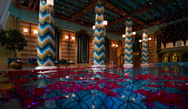 Burj Al Arab Jumeirah: Moonlight Swimming Pool