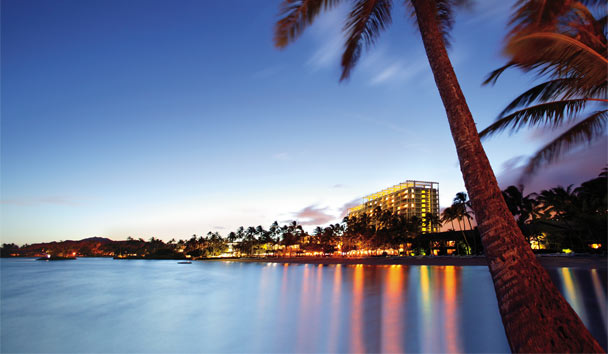 The Kahala Hotel & Resort: Resort at night