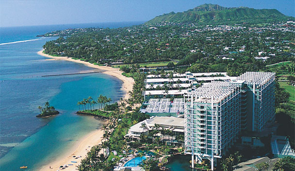 The Kahala Hotel & Resort: Aerial view