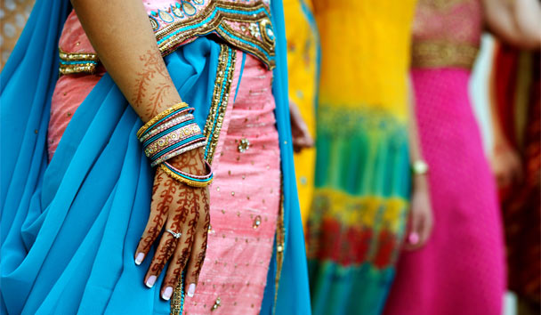 Colourful Saris
