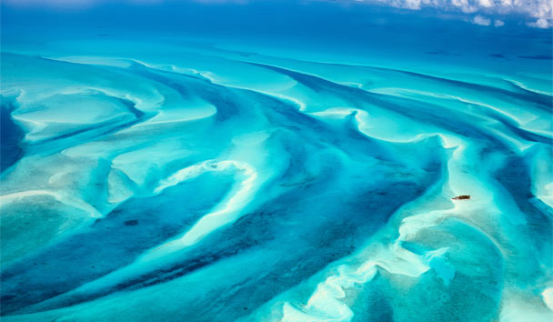 Vibrant Voyages: Beautiful blue hues of The Bahamas from above