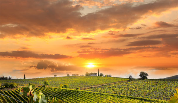 Italian Inspiration: Sunset over Chianti