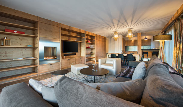 W Verbier: Wonderful Residence Living Room