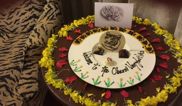 Welcome at the Oberoi Vanyavilas; picture by Michelle Sephton