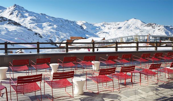 Le Val Thorens: Terrace