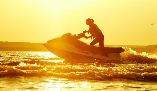 Europe for Families: Teens jet-ski tours at Daios Cove, Crete