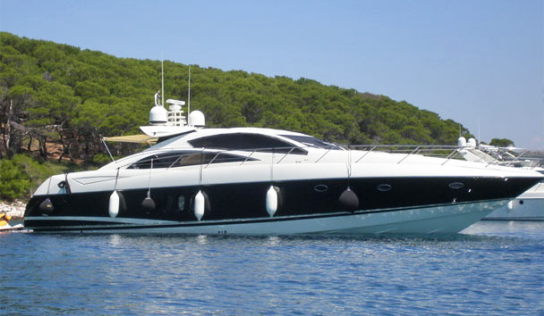 Palm Point: 72-foot yacht available to hire from the private mooring
