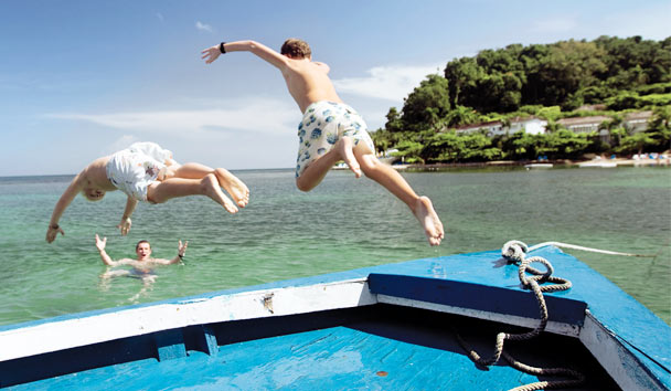 Round Hill, Jamaica: Fun in the water